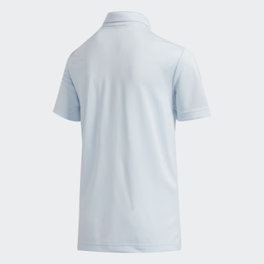 Youth Golf Blue Gradient Stripe Polo Shirt