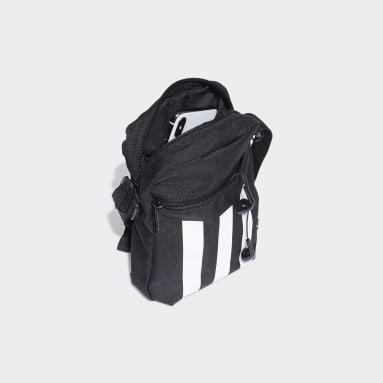 Handball Black Essentials 3-Stripes Shoulder Bag