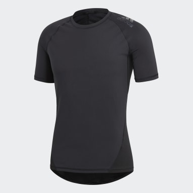 Playera Alphaskin Sport Negro Hombre Rugby