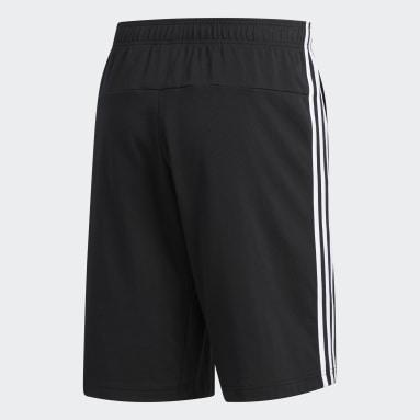 Shorts 3 Tiras Negro Hombre Diseño Deportivo