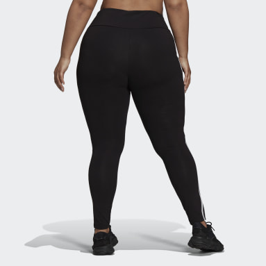 Women's Originals Black Adicolor Classics 3-Stripes Tights (Plus Size)