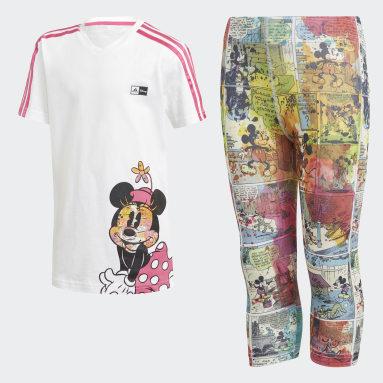 Conjunto verano Minnie Mouse Blanco Niña Gimnasio Y Entrenamiento