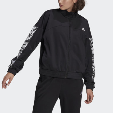 Women's Essentials Black adidas x Zoe Saldana AEROREADY Track Jacket