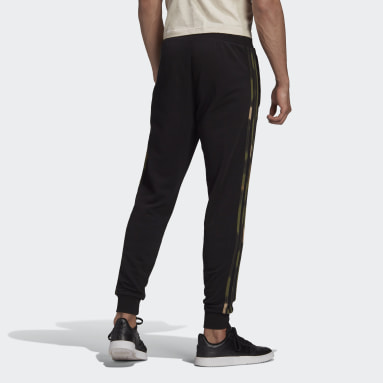 Camo Stripes Sweat Pants Czerń