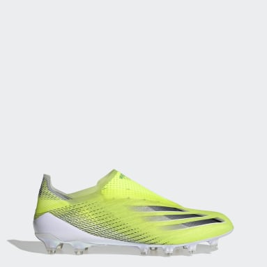 Football Yellow X Ghosted+ Artificial Grass Boots