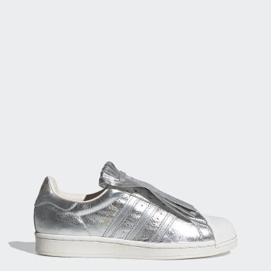 Kvinder Originals Sølv Superstar FR sko