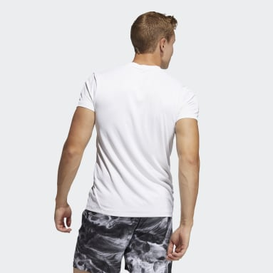 T-shirt HEAT.RDY 3-Stripes Blanc Hommes Fitness Et Training