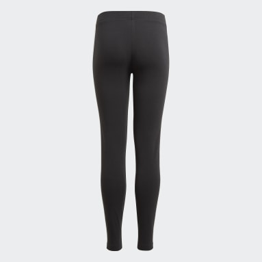 Girls Sport Inspired Black adidas Essentials 3-Stripes Leggings