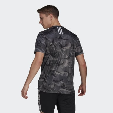 Men's Training Grey adidas Designed 2 Move AEROREADY Camouflage Graphic Tee