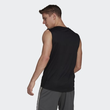 Mænd Fitness Og Træning Sort AEROREADY Designed To Move Sport 3-Stripes tanktop