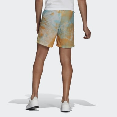 Men Essentials Blue Essentials Tie-Dyed Inspirational Shorts