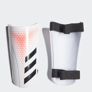 Football White Predator 20 Training Shin Guards