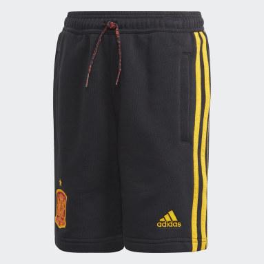 Kids Football Black Spain Shorts