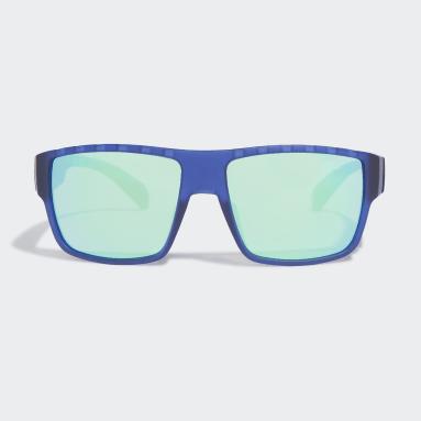 Padel Tennis Blå SP0006 Matte Blue Injected Sport solbriller