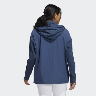 Women Golf Blue Perforated Hoodie
