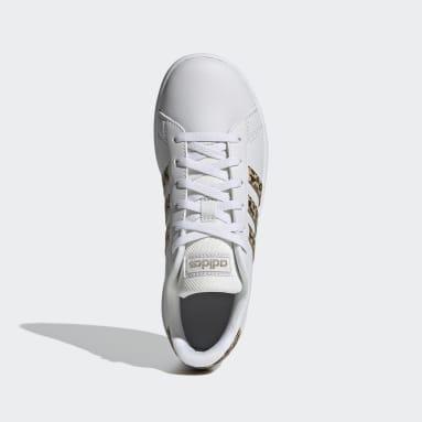 Zapatillas Grand Court Blanco Niño Diseño Deportivo
