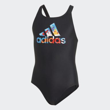 Meisjes Zwemmen Zwart Egle Badpak