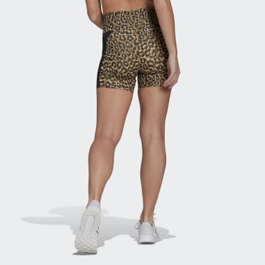 Cuissard adidas Designed to Move AEROREADY Leopard Print Beige Femmes Fitness Et Training