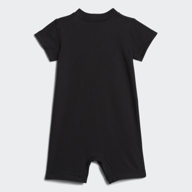 Infant & Toddler Training Black Shortie Cotton Romper
