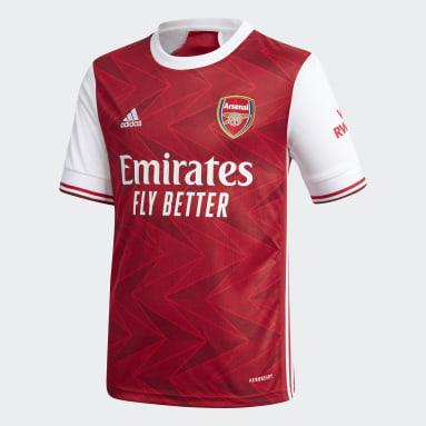 Kinder Fußball FC Arsenal Heimtrikot Weinrot