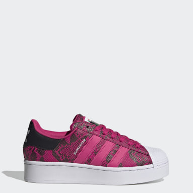 Women's Originals Burgundy Superstar Bold Shoes