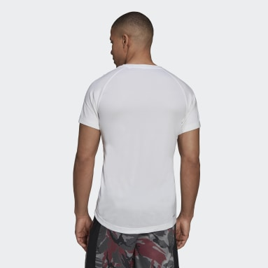Men Gym & Training White AEROREADY Designed to Move Sport Motion Logo Tee