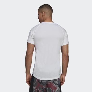 Camiseta AEROREADY Designed To Move Sport Motion Logo Blanco Hombre Gimnasio Y Entrenamiento