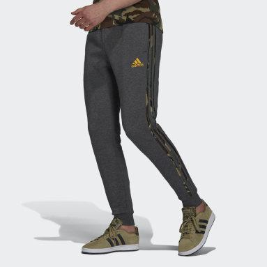 Men Sportswear Grey Essentials Fleece Camo-Print Joggers