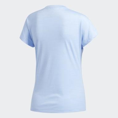 Women Gym & Training Blue Badge of Sport T-Shirt