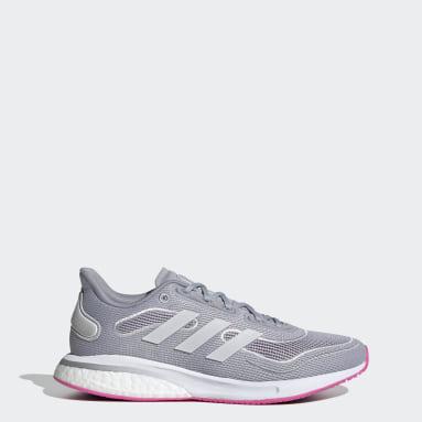 Chaussure Supernova gris Femmes Course