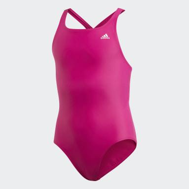 Dívky Plavání Purpurová Plavky Solid Fitness