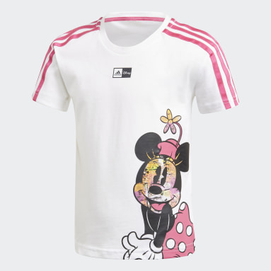 T-shirt Disney Minnie Mouse Bianco Ragazza Fitness & Training