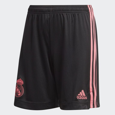 Kids Football Black Real Madrid 20/21 Third Shorts