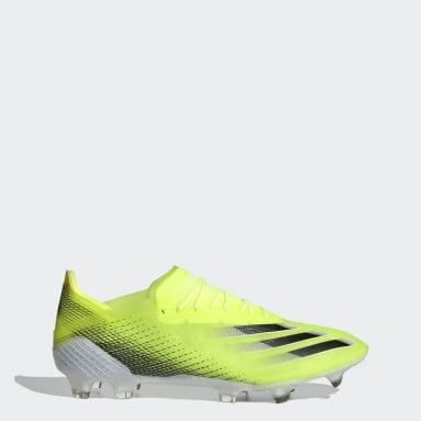 Chuteira X Ghosted.1 Campo Amarelo Homem Futebol