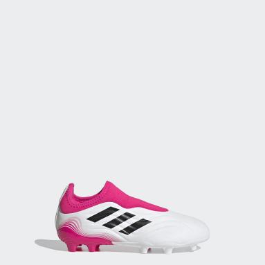 Chaussure Copa Sense.3 Laceless Terrain souple Blanc Enfants Football