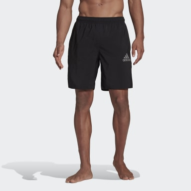 Men Swimming Black Solid Swim Shorts