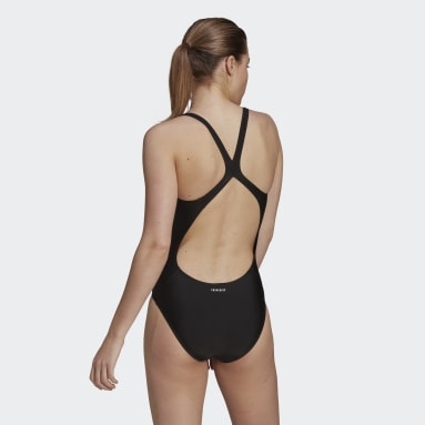 Women Swimming Black SH3.RO Solid Swimsuit