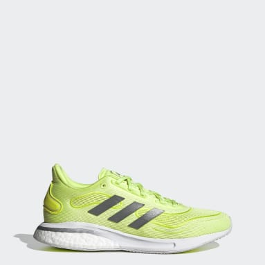 Women Running Yellow Supernova Shoes
