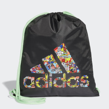 Kids Running Black Cleofus Print Gym Sack