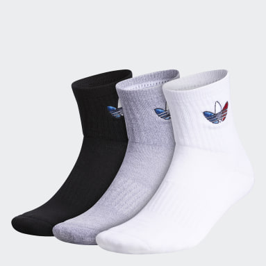 Men's Originals Multicolor Originals Tri-Color Quarter Socks 3 Pairs