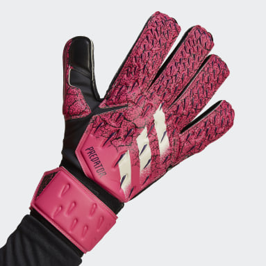 Soccer Pink Predator Match Goalkeeper Gloves