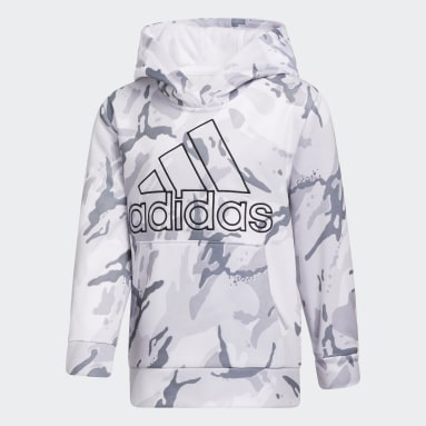 Children Training White Core Camo Hoodie