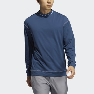 Men Golf Blue Equipment Wind Crew Sweatshirt