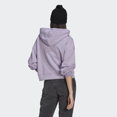 Women Originals Purple LOUNGEWEAR Adicolor Essentials Hoodie