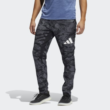 Men Cricket Black Training 3-Stripes Camo Joggers