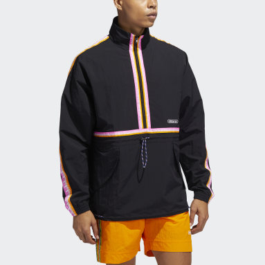 Men Originals Black Taped Anorak Jacket