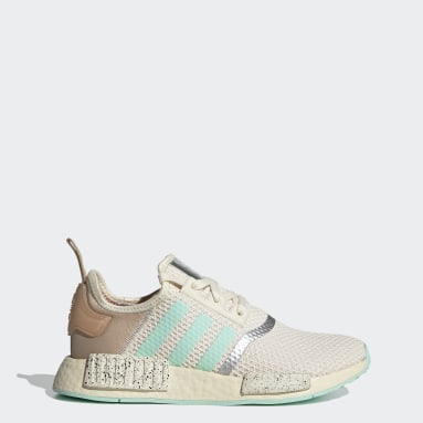 Women Originals White Star Wars Mandalorian NMD_R1 The Child - Find Your Way Shoes