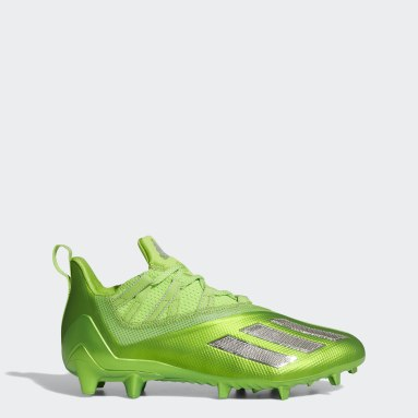 Men's Football Green Adizero 11.0 Turbo Fuel Football Cleats