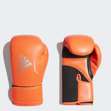 Guantes Speed 100 Naranja Boxeo