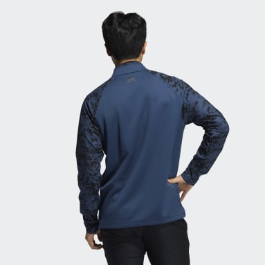 Men Golf Blue Camo Hybrid Layering Sweatshirt